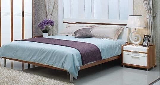 Durable Full Bedroom Furniture Sets , Queen Bedroom Suite Environmentally Material