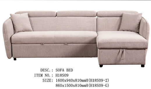 Pure Foam Linen Plastic Legs Wooden Frame Sofa Bed / Living Room Sofa Sets